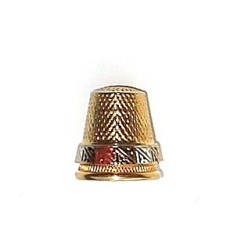 Thick thimble damascene