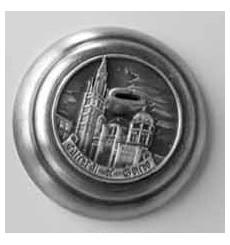 Cattedrale nel piedistallo argento